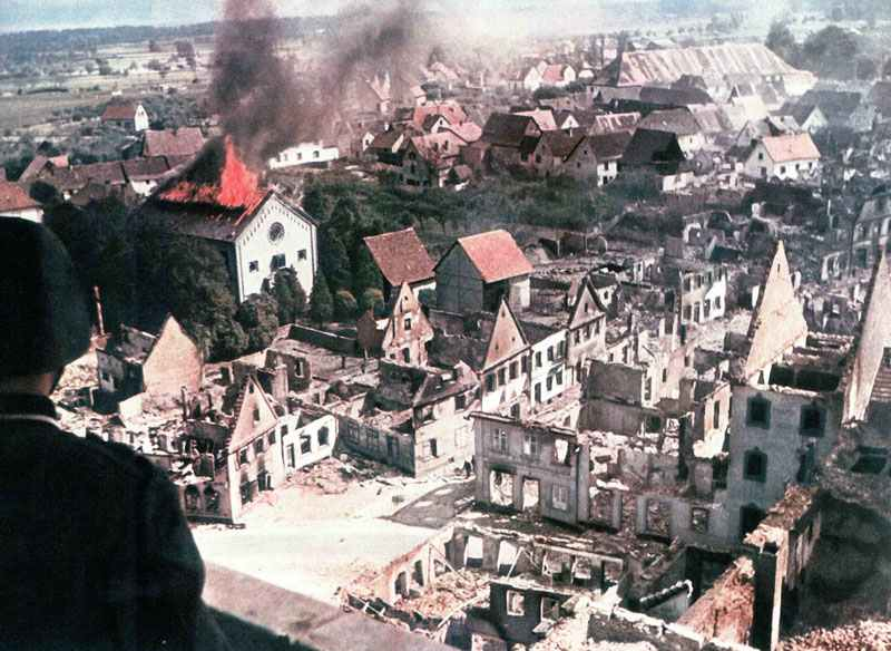 destroyed French villages