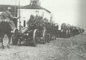German six-inch howitzers