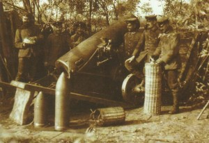 German 21-cm steel mortar