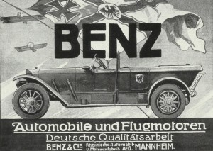 Advertisement for the Benz company