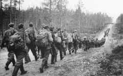 Finnish Army on march