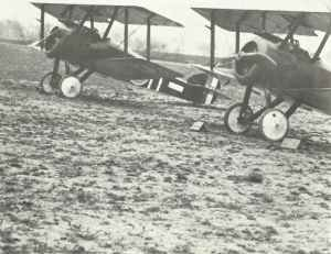 Sopwith Camels on airfield Western Front