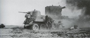 Two SS men from LSSAH destroying finally two Russian vehicles