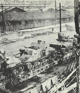 M3 tanks on the railway near Murmansk