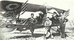 Nieuport with rockets