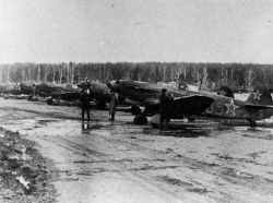 Yak-9 at Dobrovka near Smolensk