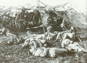 French gunners take a rest