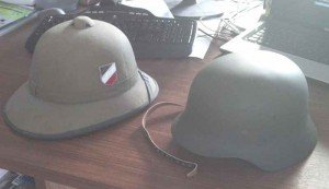 German WW2 steel helmets