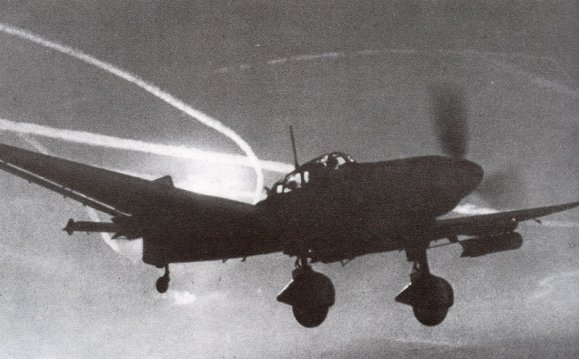 Stuka in flight.