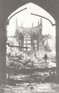 destroyed cathedral of Coventry