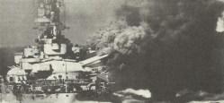 Italian battleship fires