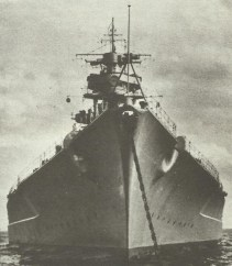 bow of Tirpitz