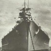 bow of Tirpitz