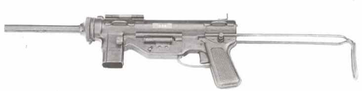 US M3A1 sub-machine gun.
