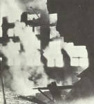 Burning buildings London