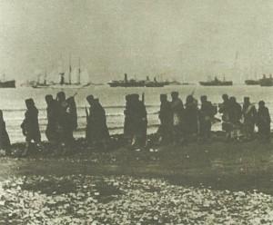 Serbian troops await evacuation