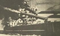 aft turrets firing