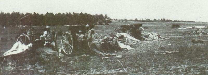 French Canon de 75 mle 1897 battery
