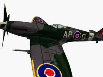 3d model Supermarine Spitfire XIV