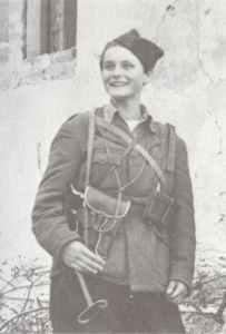 Yugoslav partisan woman soldier