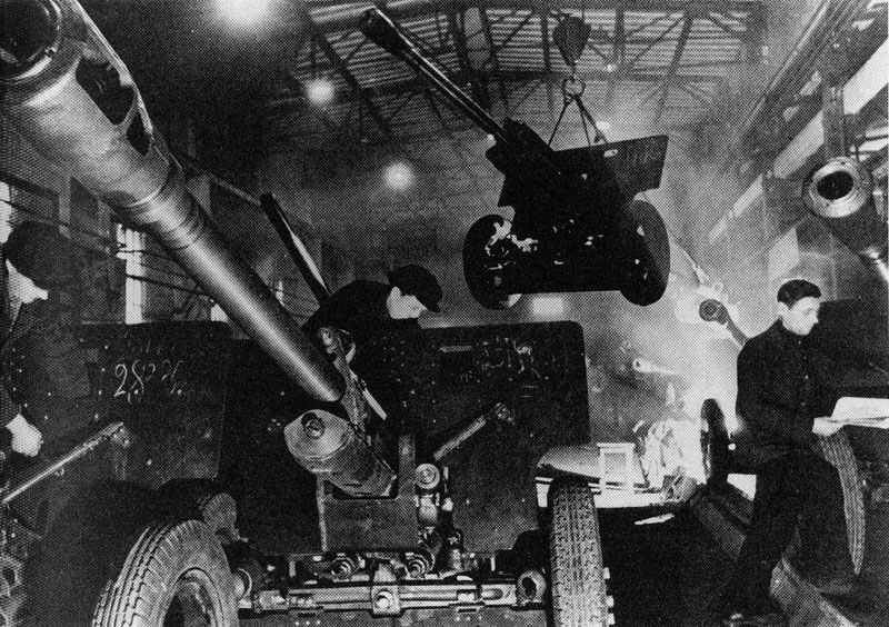 Production of ZIS3 field guns