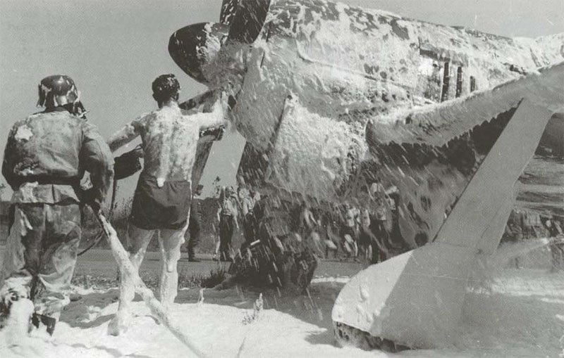 overheated BMW engine of a Fw 190