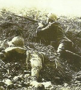 German soldier keeps watch over Fort Vaux