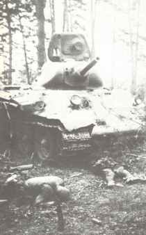 destroyed T-34 Model 1940