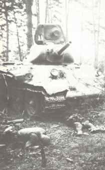 destroyed T-34 Model 1940