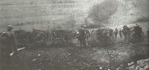 German infantry advance in open order