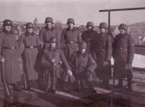 Group of German soldiers ready for appeal