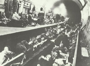 Underground stations as air raid shelters