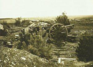 Position of a German 7.7-cm field gun 96