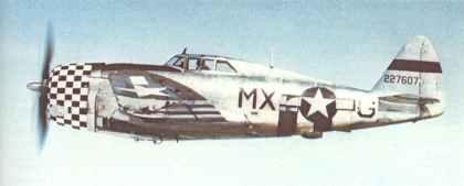 early Republic P-47 Razorback Thunderbolt model D