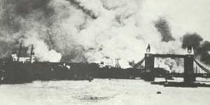 Tower Bridge in heavy smoke