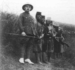 Belgian lieutnant and his men