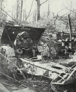 German 21-cm mortar in a captured French position