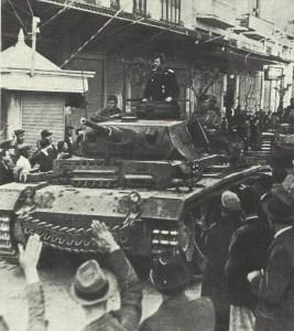 German tanks enter Salonikia