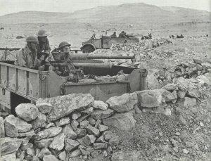 British light artillery on trucks