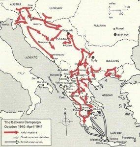 map Balkans Campaign