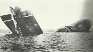 Crashed German airship in the North Sea