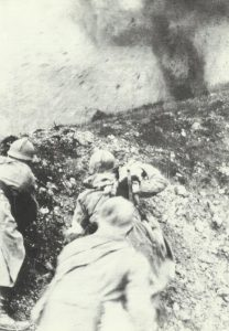 French medics trying to rescue a wounded