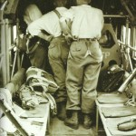 Inside a Ju 52.