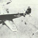 Dropping paratroopers with a Ju 52