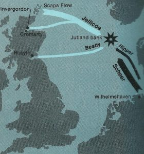 map battle Jutland Bank