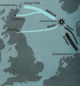 map battle Jutland Bank