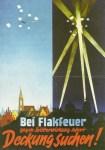 German air raid poster