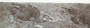 British machine-gunners with captured German MG08