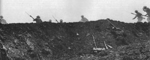Film sequence of the film 'Battle of the Somme'
