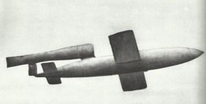 A V-1 in flight.